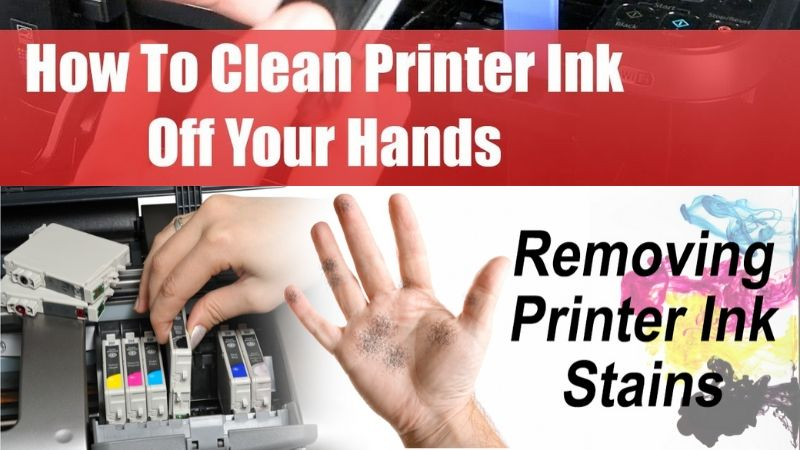 How to remove printer ink