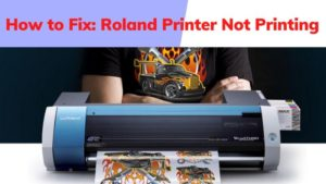 How to Fix Roland Printer Not Printing