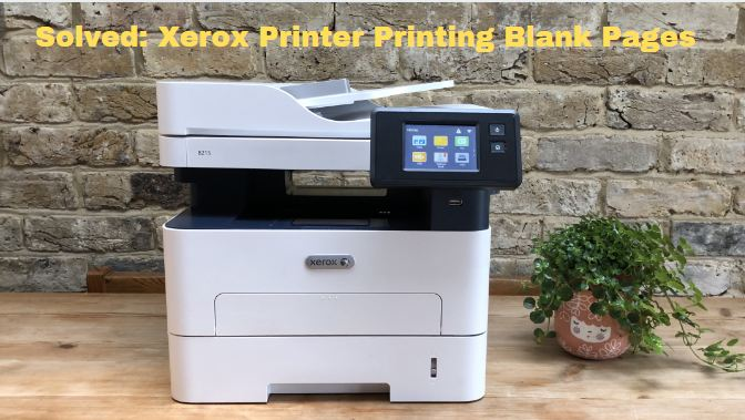 Xerox Printer Printing Blank Pages